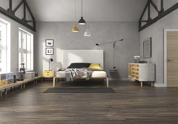 Spacious bedroom flooring