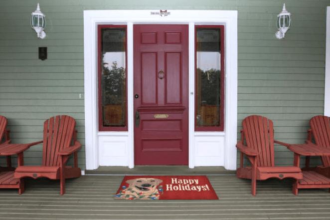 Happy holiday doormat