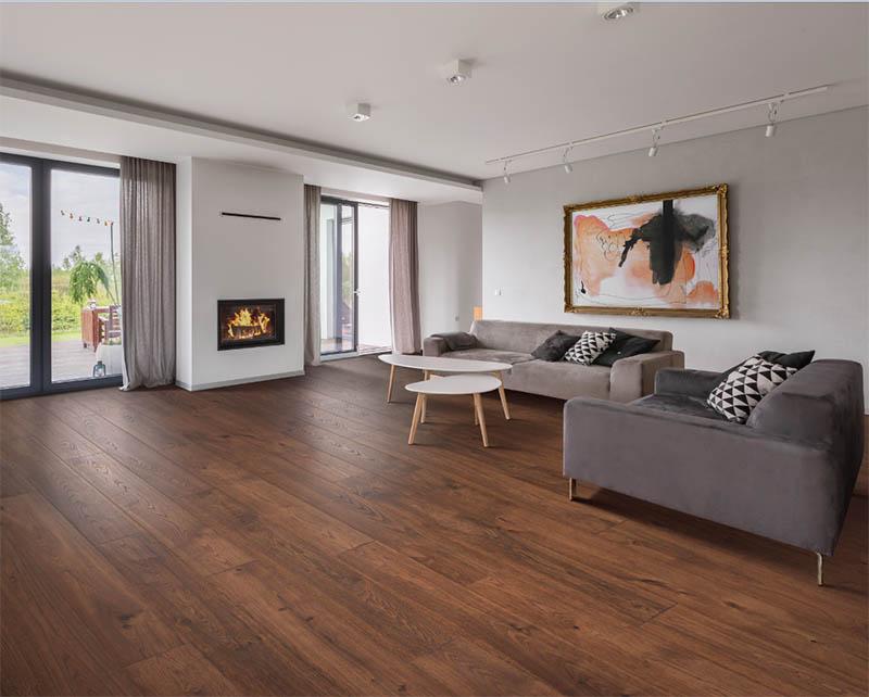 Revwood wood flooring in minimalistic living room