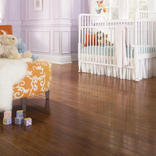 Baby room hardwood flooring