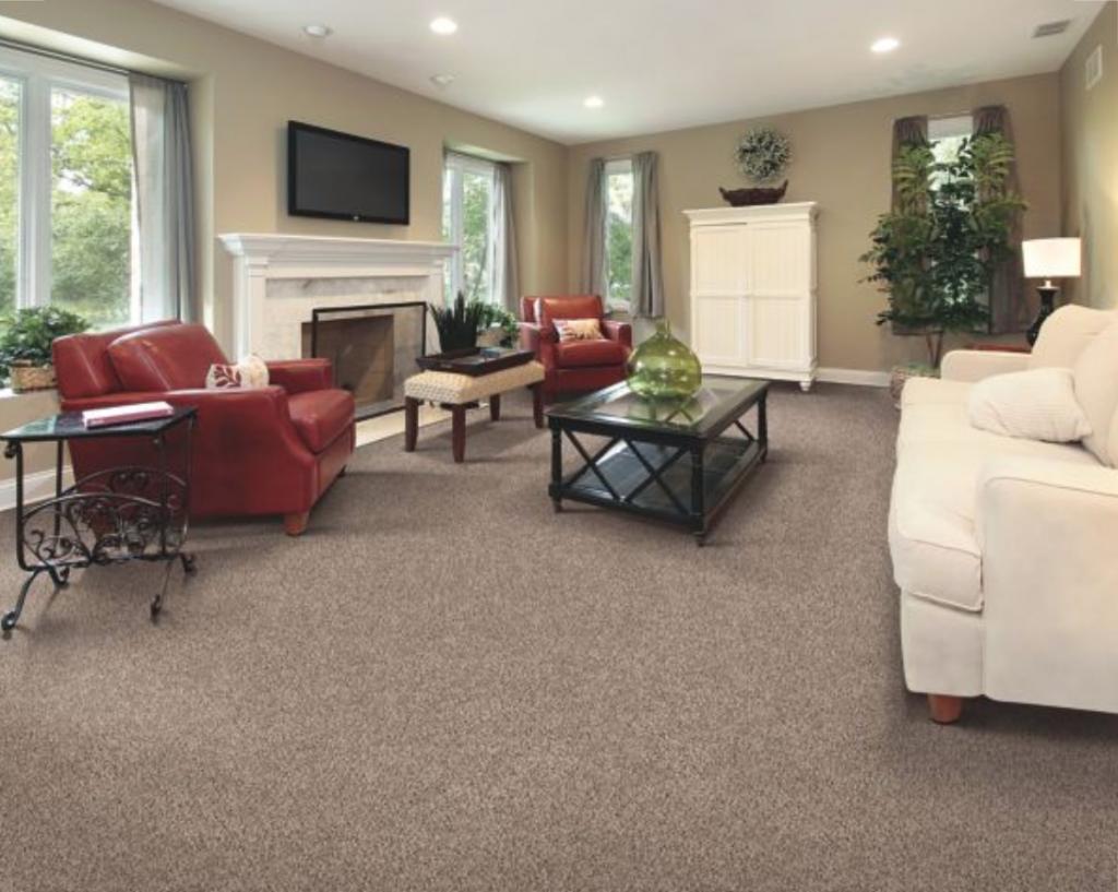 Living room carpet flooring