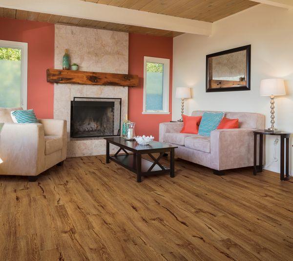 Living room vinyl flooring