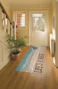 Beach design on rug