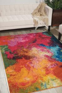 Bright colored rug