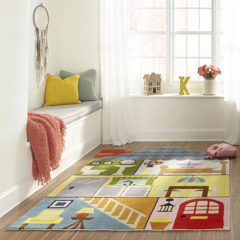 kids' rug in kid play area