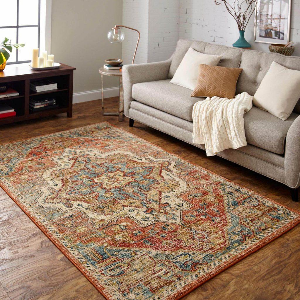 Karastan Kasbar area rug in living room