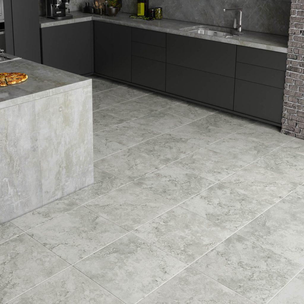 stone tile in kitchen