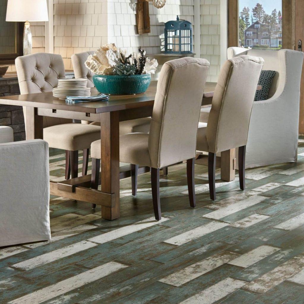 laminate flooring in dining area