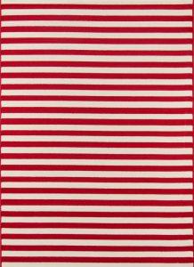 momeni baja red stripe rug