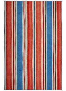 Mohawk Prismatic Coastal Stripe Red Midnight Blue Collection
