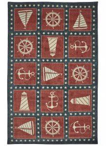 Mohawk Prismatic Coastal Americana Navy Sienna Collection