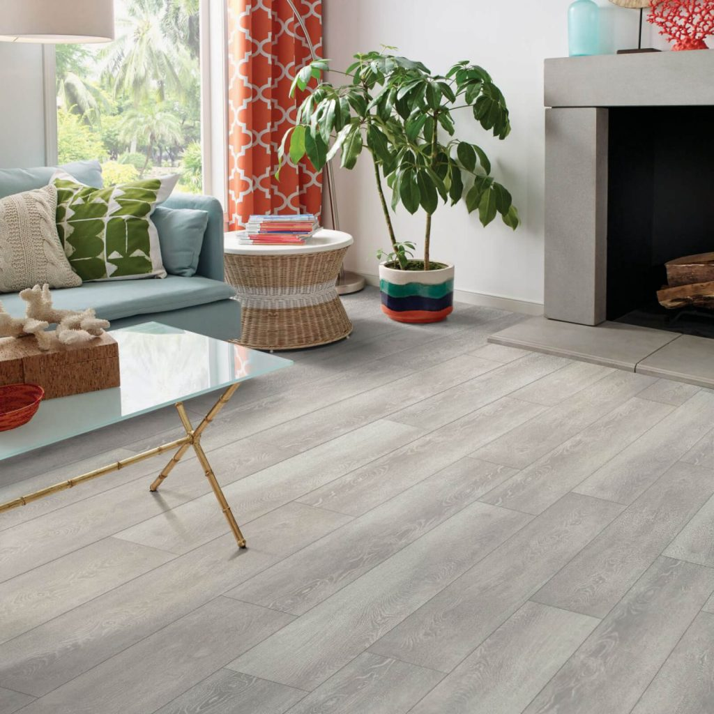 Camargo oak vinyl flooring in living room