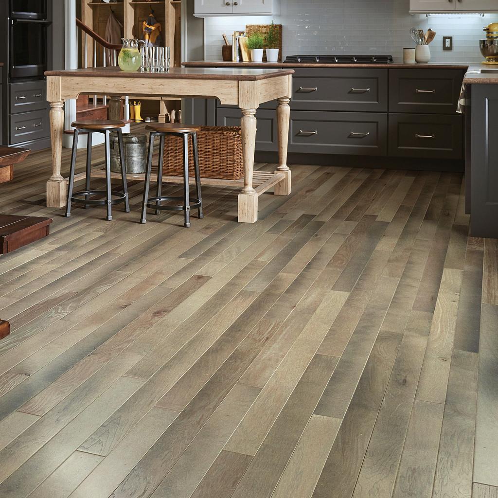 distressed hardwood in kitchen
