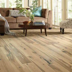 wire-brushed hardwood flooring