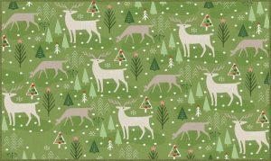 Mohawk Prismatic Reindeer Flurries Green Collection