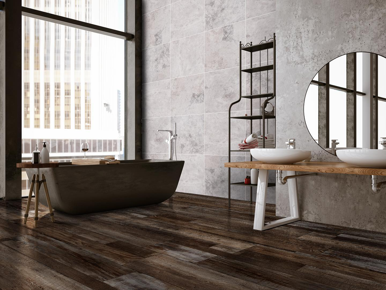 msi luxury vinyl in bathroom   Dolphin Carpet & Tile
