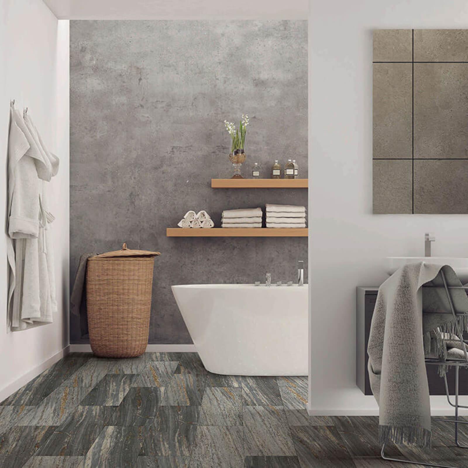 coetec vinyl flooring in bathroom | Dolphin Carpet & Tile