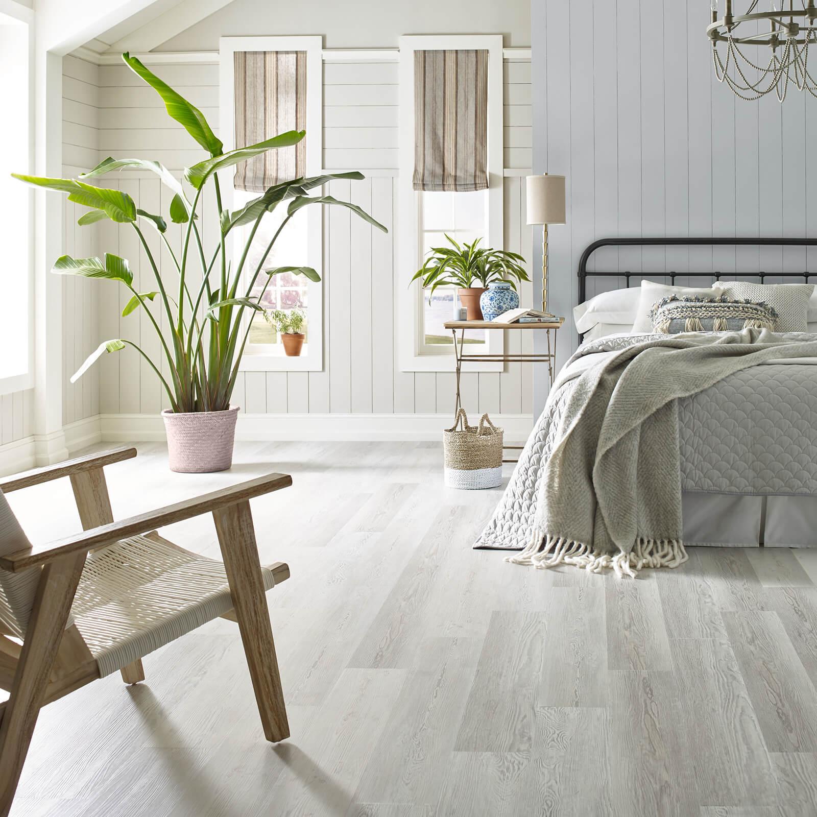 vinyl flooring in bedroom | Dolphin Carpet & Tile
