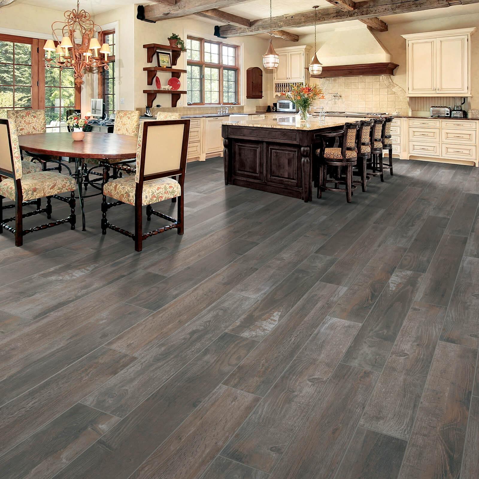Bryson Valley Truffle Barnwood flooring | Dolphin Carpet & Tile