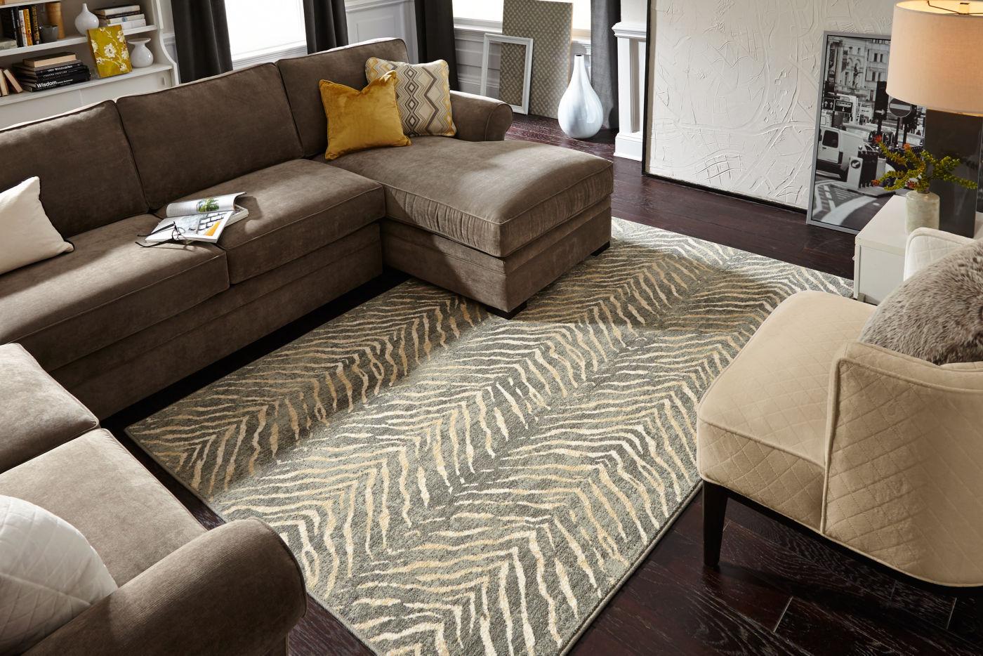Karastan rug for posh living room | Dolphin Carpet & Tile
