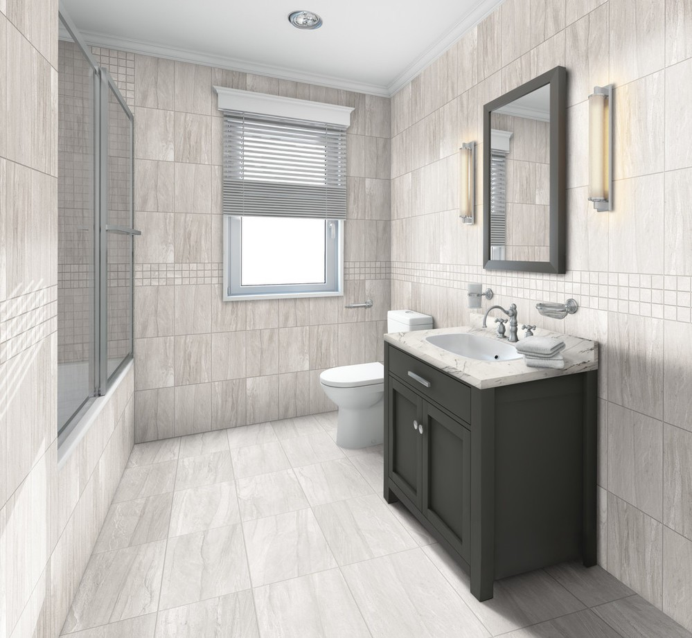 tile in bathroom   Dolphin Carpet & Tile