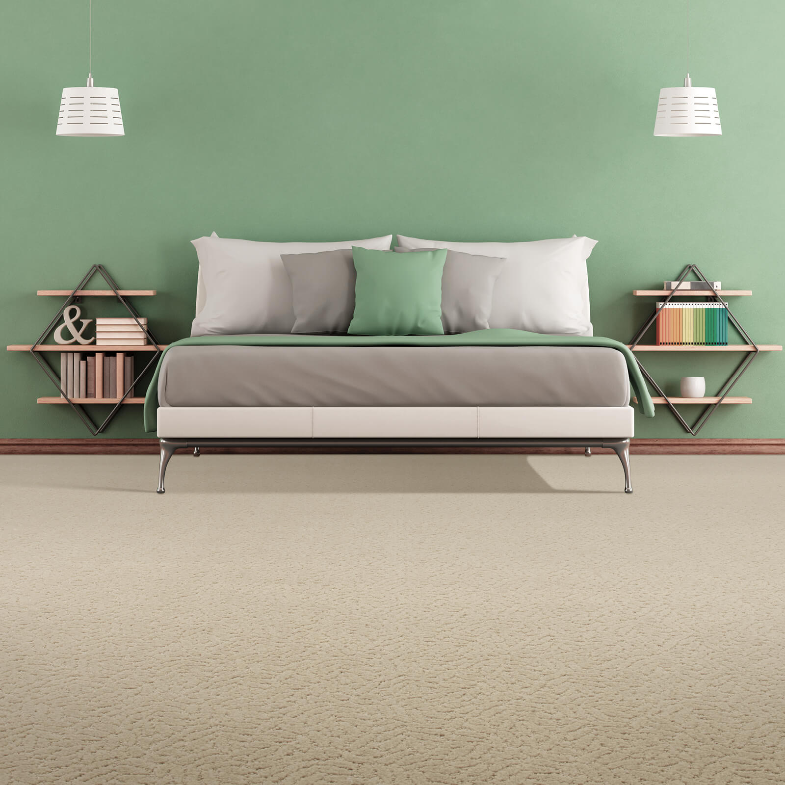Green colorwall | Dolphin Carpet & Tile