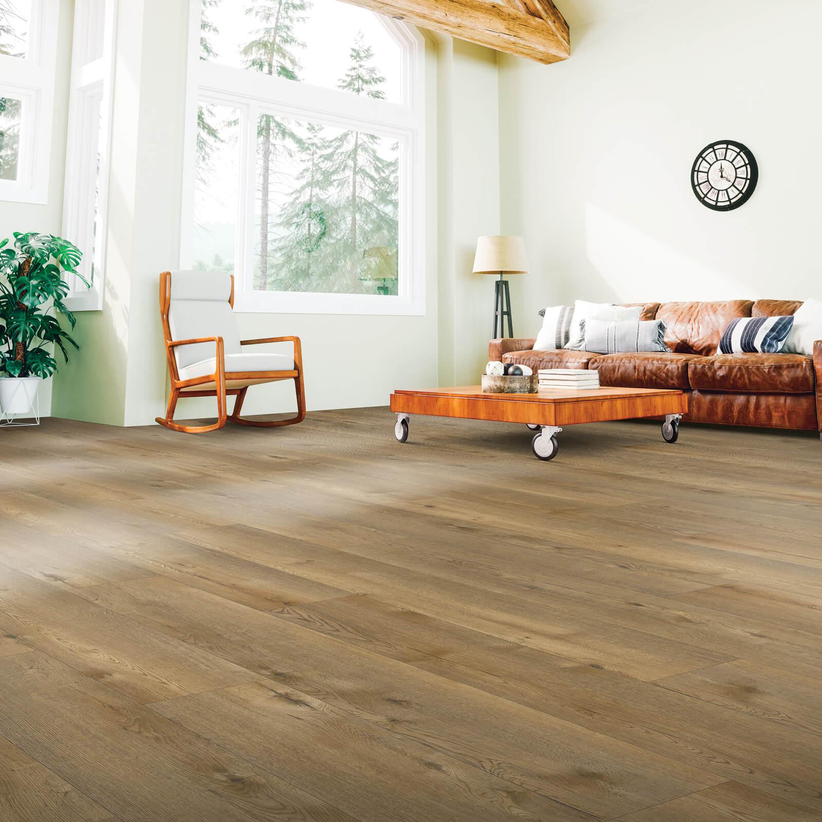 Spacious living room flooring | Dolphin Carpet & Tile