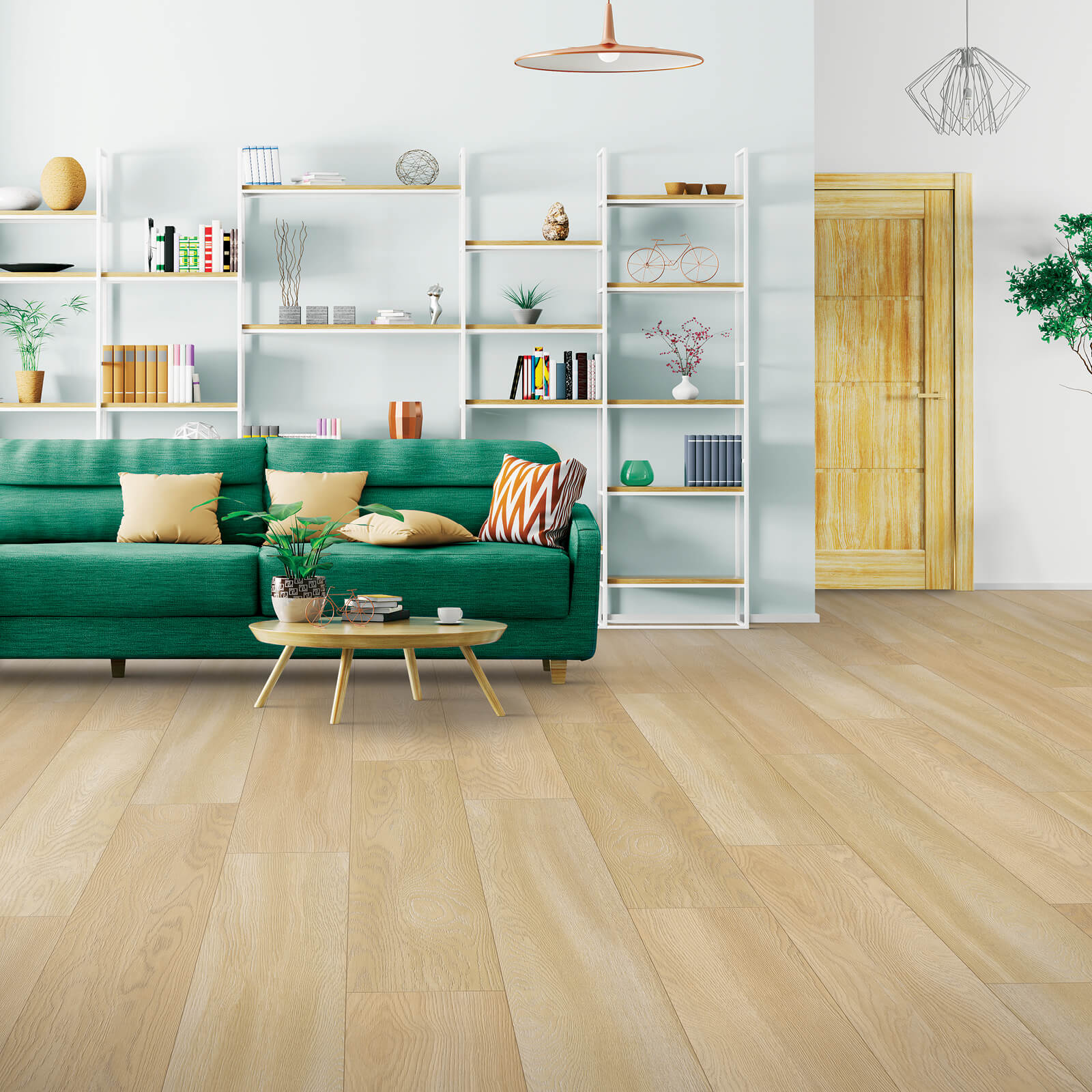 Green couch flooring | Dolphin Carpet & Tile