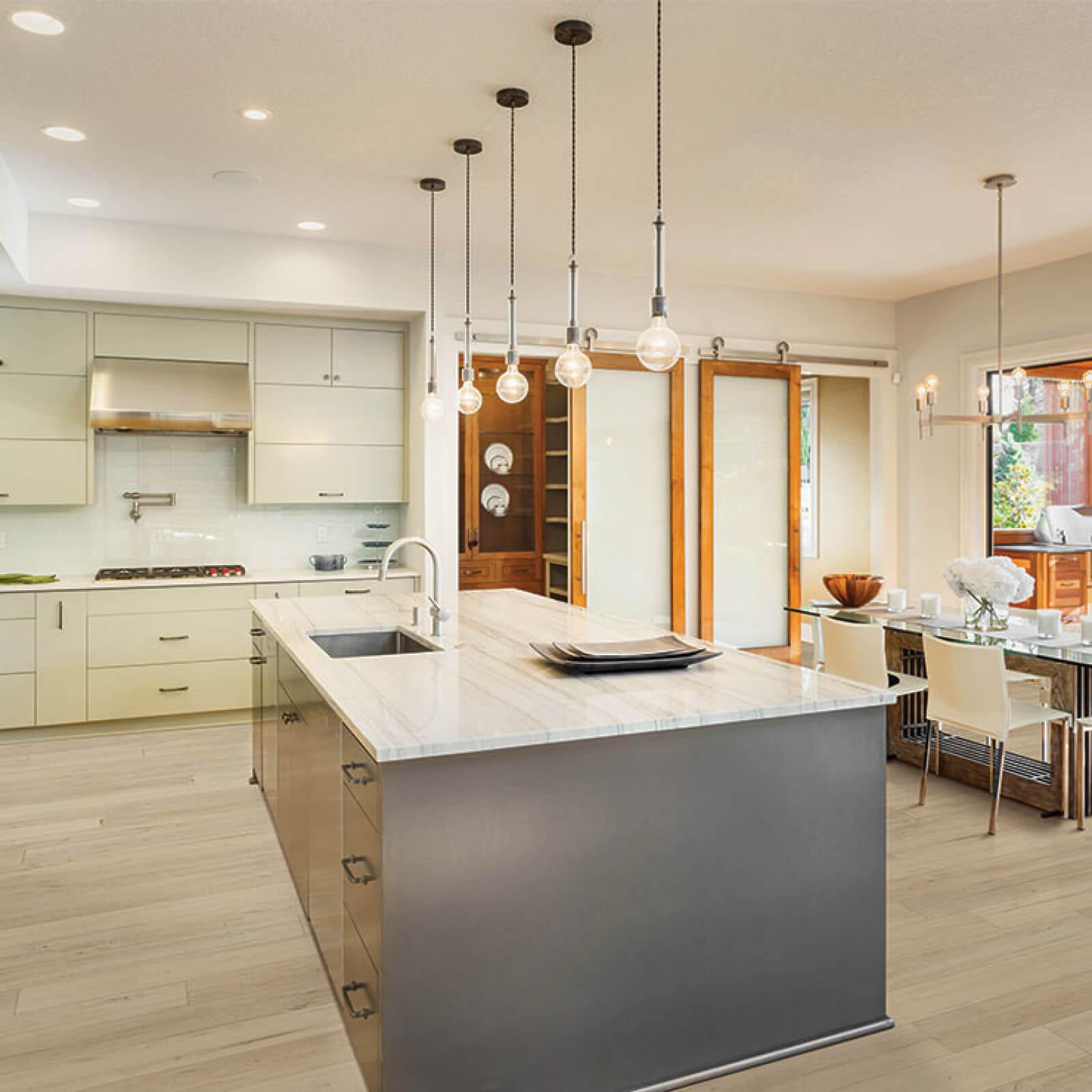 luxury vinyl in kitchen | Dolphin Carpet & Tile