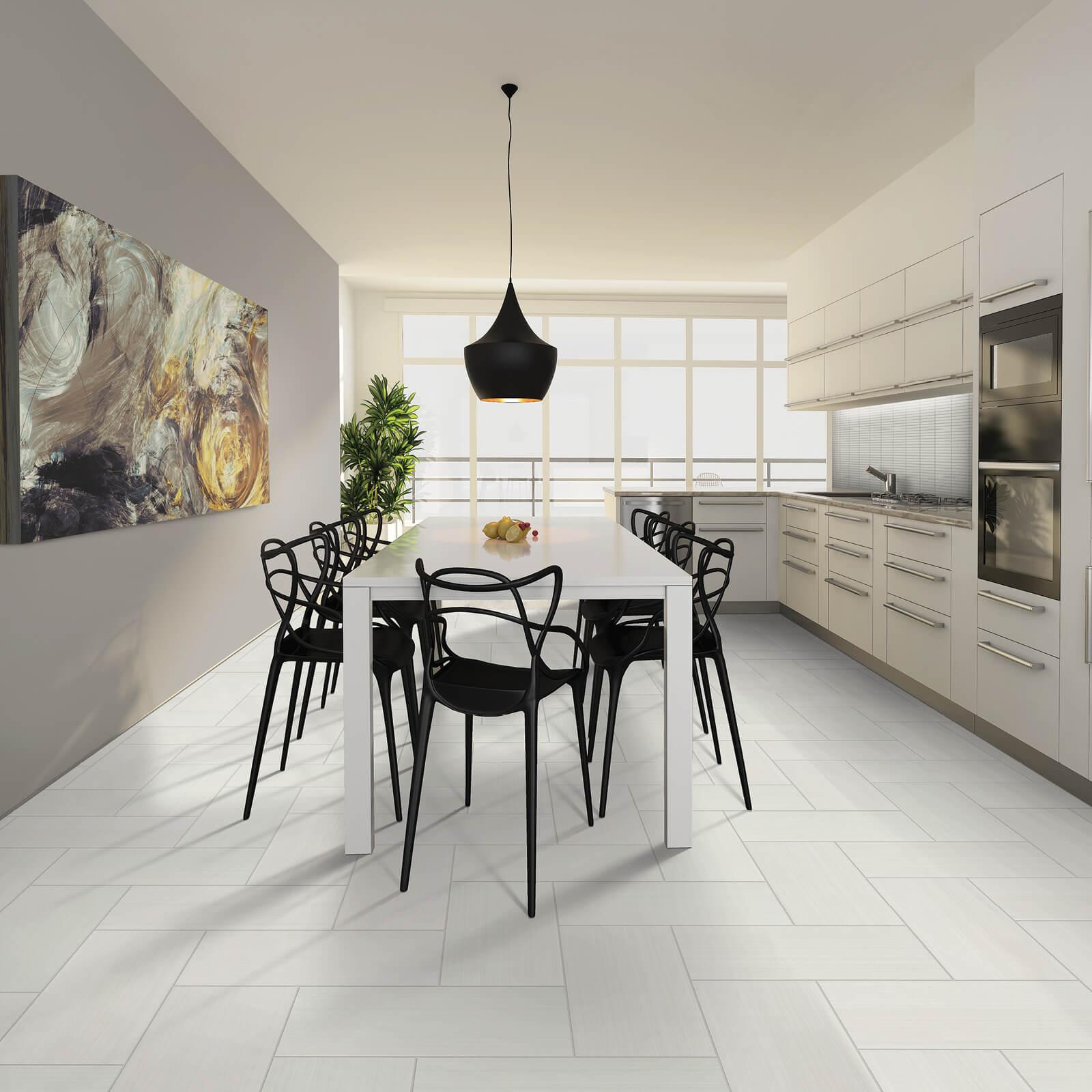 White tile flooring | Dolphin Carpet & Tile