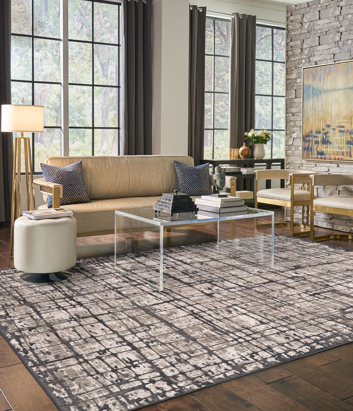 Karastan area rug for living room | Dolphin Carpet & Tile