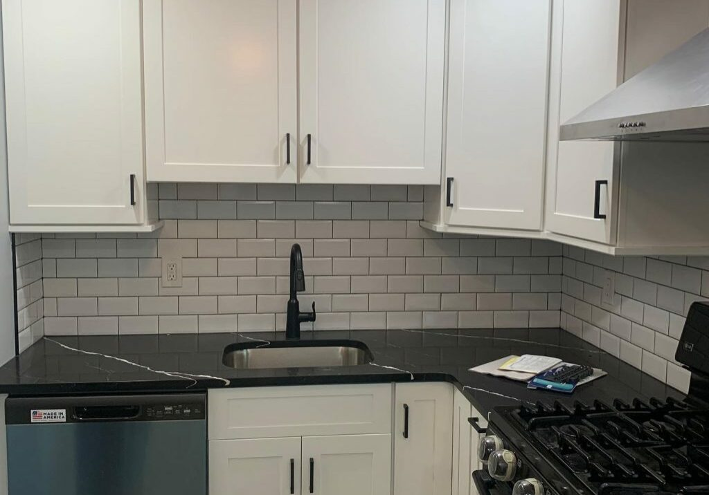 White cabinets | Dolphin Carpet & Tile