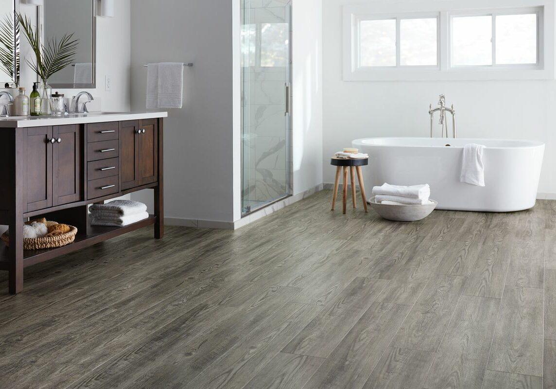 laminate flooring in the bathroom | Dolphin Carpet & Tile