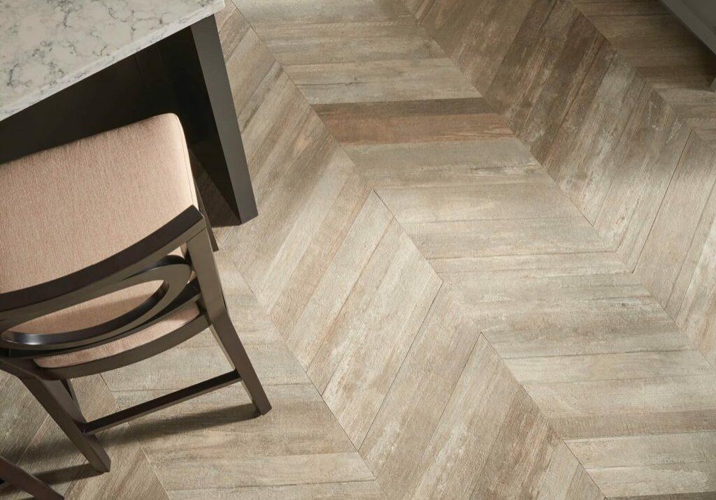 Glee chevron tile | Dolphin Carpet & Tile