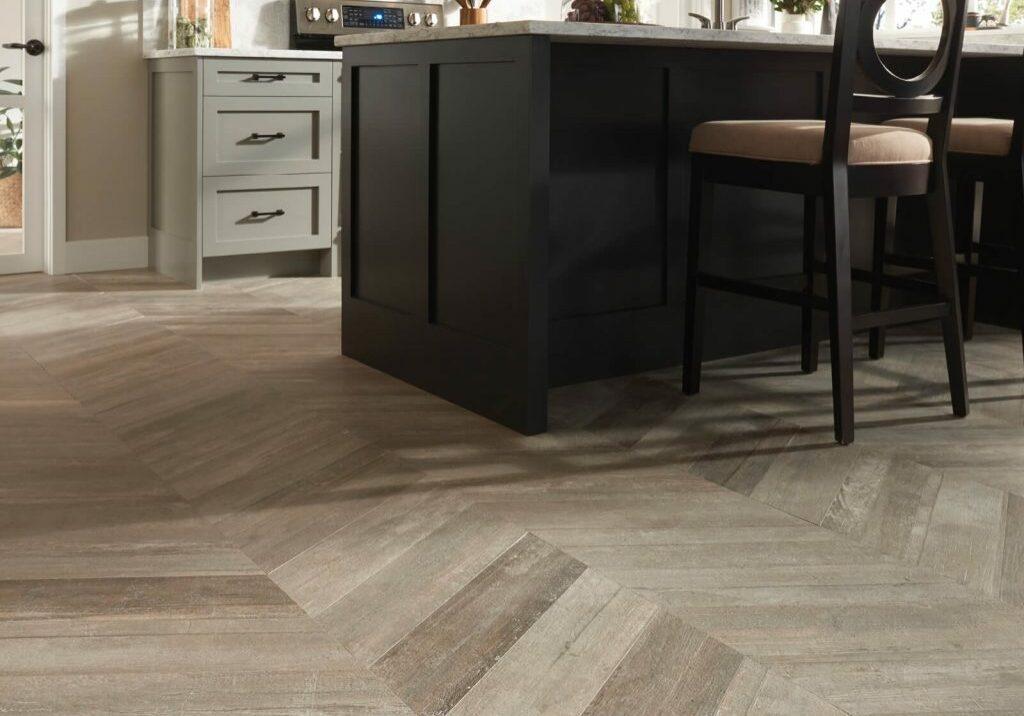 Glee chevron tile flooring   Dolphin Carpet & Tile