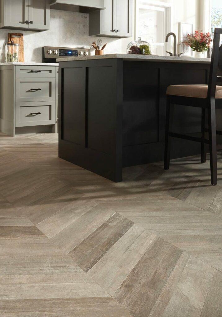 Glee chevron tile flooring | Dolphin Carpet & Tile