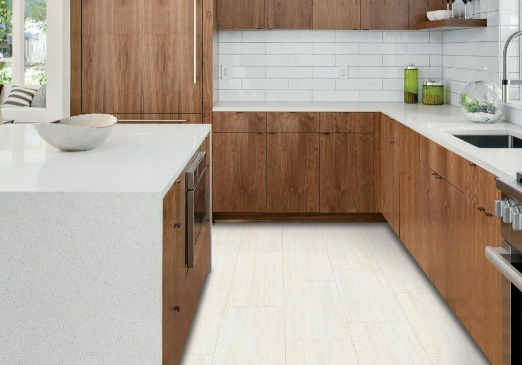 Kitchen white tiles   Dolphin Carpet & Tile