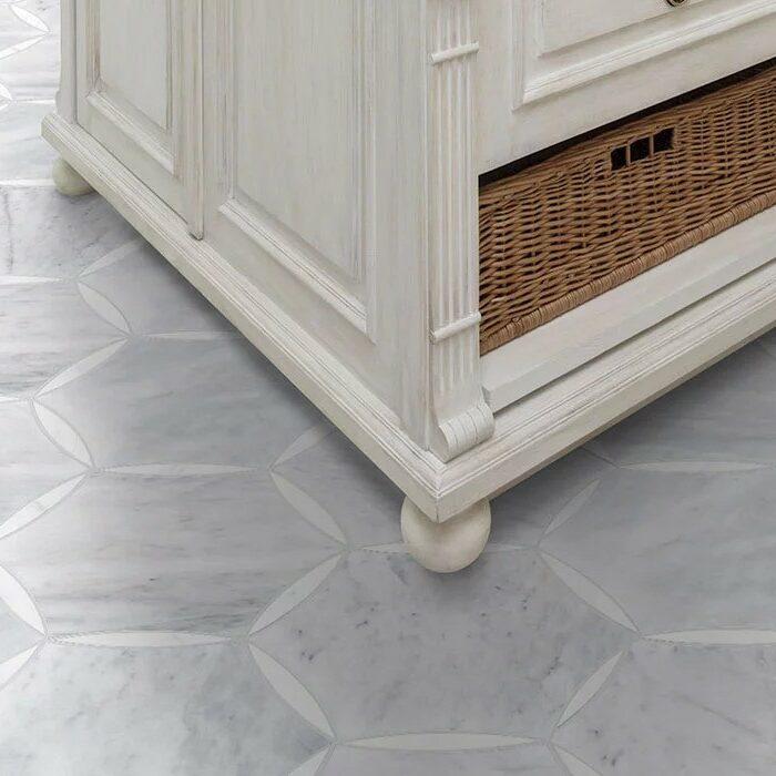 deluxe waterjet stone access flooring | Dolphin Carpet & Tile